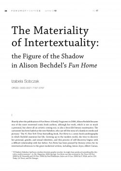 The Materiality of Intertextuality: the Figure of the Shadow in Alison Bechdel's Fun Home