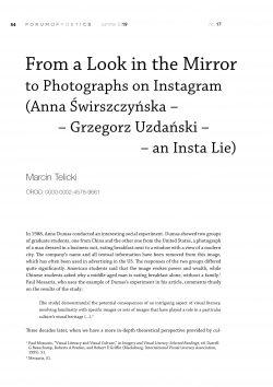 From a Look in the Mirror (Anna Świrszczyńska - Grzegorz Uzdański - an Insta Lie