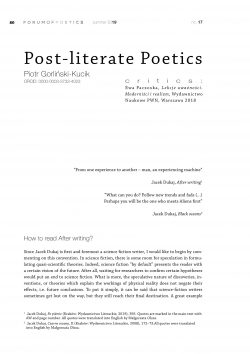 Post-literate Poetics