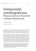Interpoetyka autobiograficzna. Wojenna twórczość Franciszki i Stefana Themersonów