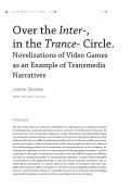 Over the inter-, in the trance- circle. Novelizations to video games as an example of transmedia narratives