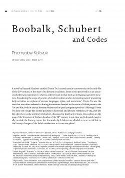 Boobalk, Schubert and Codes