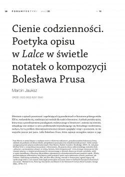 Cienie codzienności. Poetyka opisu w Lalce w świetle notatek o kompozycji Bolesława Prusa
