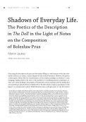 Shadows of Everyday Life. The Poetics of the Description in The Doll in the Light of Notes on the Composition of Bolesław Prus