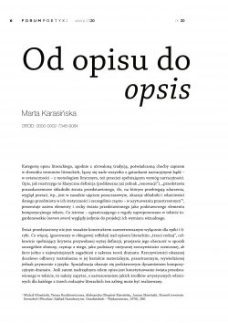 Od opisu do opsis