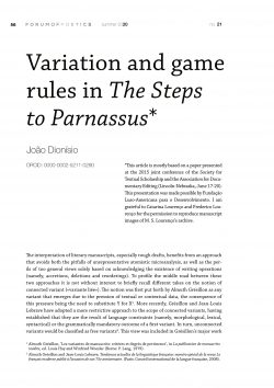 Variation and game rules in The Steps to Parnassus