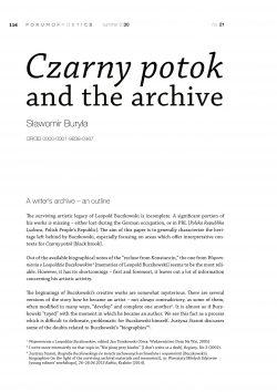Czarny potok and the archive