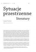 Sytuacje przestrzenne literatury
