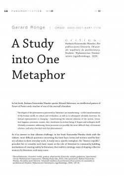 A study into one metaphor