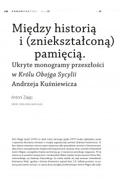 Między historią i (zniekształconą) pamięcią. Ukryte monogramy przeszłości w Królu Obojga Sycylii Andrzeja Kuśniewicza