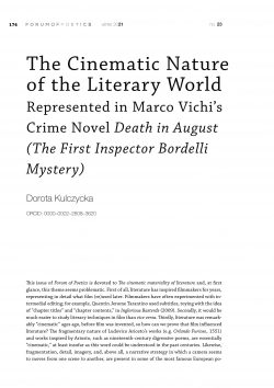 The Cinematic Nature of the Literary World Represented in Marco Vichi's Crime Novel Death in August (The First Inspector Bordelli Mystery)