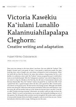 Victoria Kawēkiu Kaʻiulani Lunalilo Kalaninuiahilapalapa Cleghorn: Creative writing and adaptation