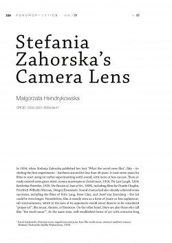 Stefania Zahorska's Camera Lens