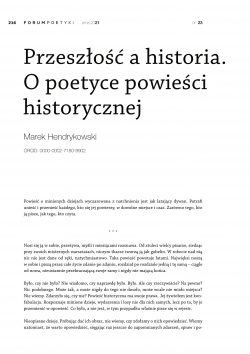 Przeszłość a historia. O poetyce powieści historycznej