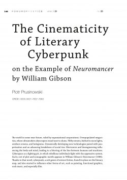 The Cinematicity of Literary Cyberpunk on the Example of Neuromancer by William Gibson