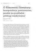 O filmowości literatury: korespondencje, powinowactwa, paralele (na przykładzie polskiego międzywojnia)